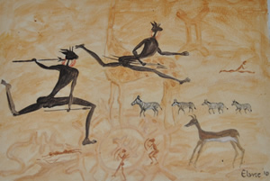 Paintings Inspired By San And Bushman Art By Elain Lee